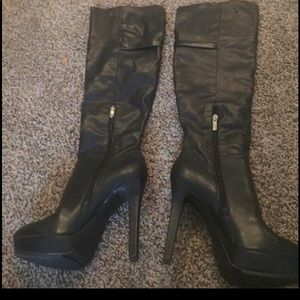 Black BCBG Over the Knee Boots